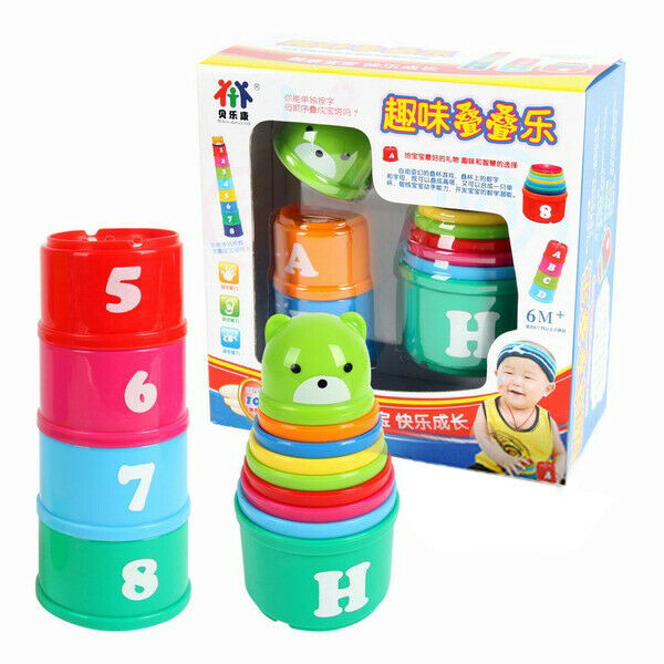 Kids Stacking Toys : Children baby toddler educational toy stacking cups