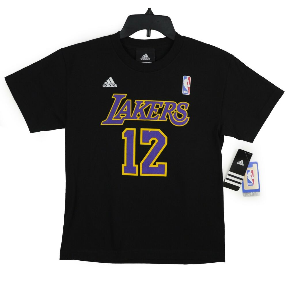Lakers Youth Size T-Shirt NBA Basketball Black Junior Boys ...
