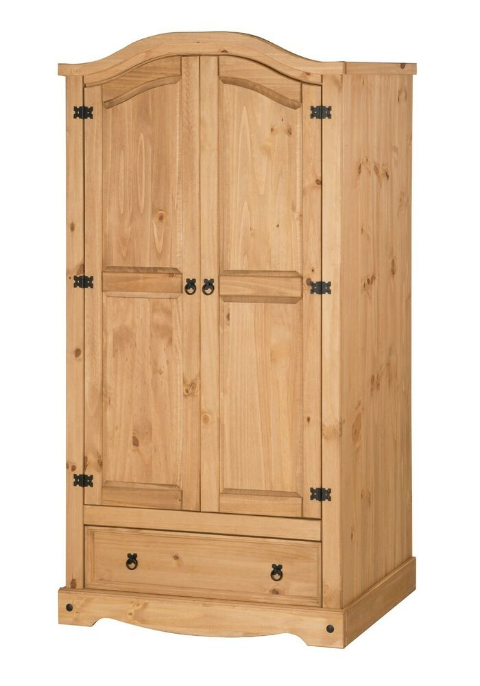 Corona 2 Door 1 Drawer Wardrobe Mexican Bedroom Solid Pine