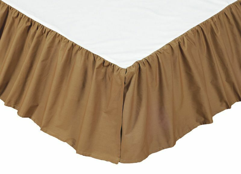 bed skirts queen solid brown bedskirt or king 100 cotton khaki 10699