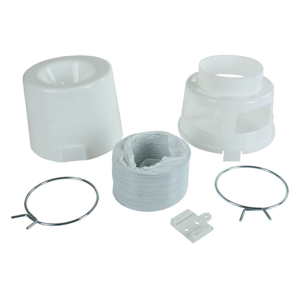 Tumble Dryer Exhaust Pipe ~ Wall vent kit box hose water pipe condenser bucket ft for