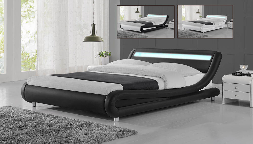 modern bed frames cheap modern designer led low bed frame single king size 16221
