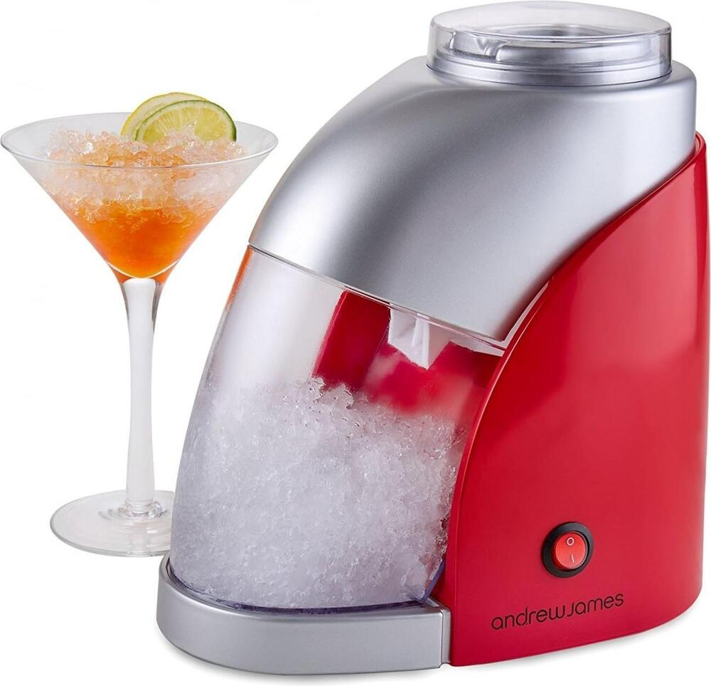 Andrew James Compact Countertop Ice Maker : Andrew James Electric Ice Crusher in Red / Silver, 55W, 600ML Capacity ...