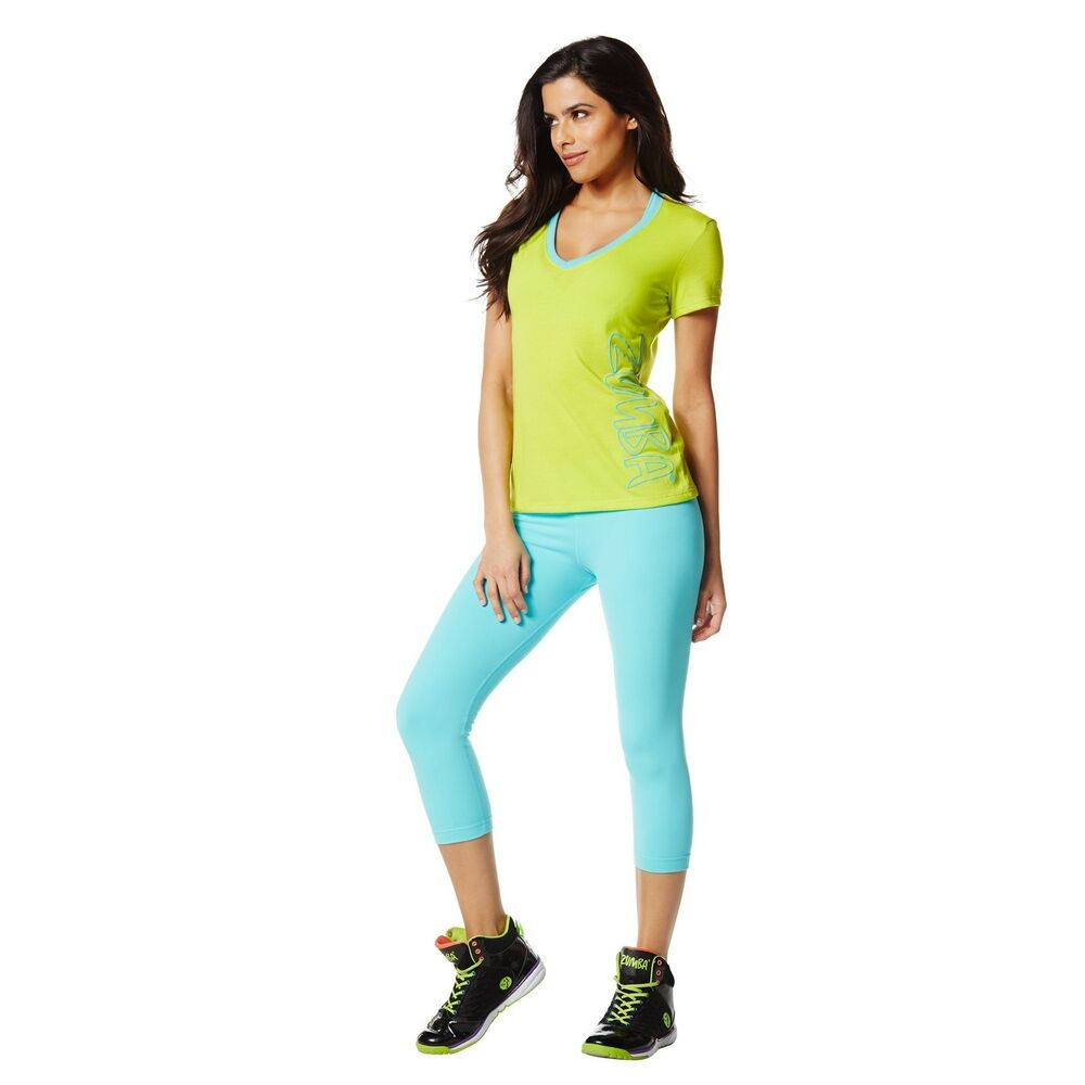 Zumba Fitness Leggings: Zumba CraveWorthy Capri Leggings - Blue Z1B00177