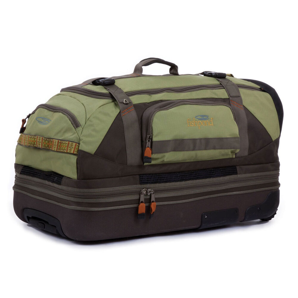 New fishpond rodeo 31 rolling travel duffel fishing gear for Ebay fishing gear