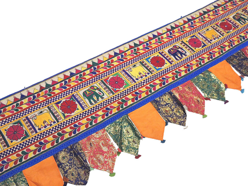 Extra Long Window Valance - 204 inch Hand Embroidered Indian Toran ...