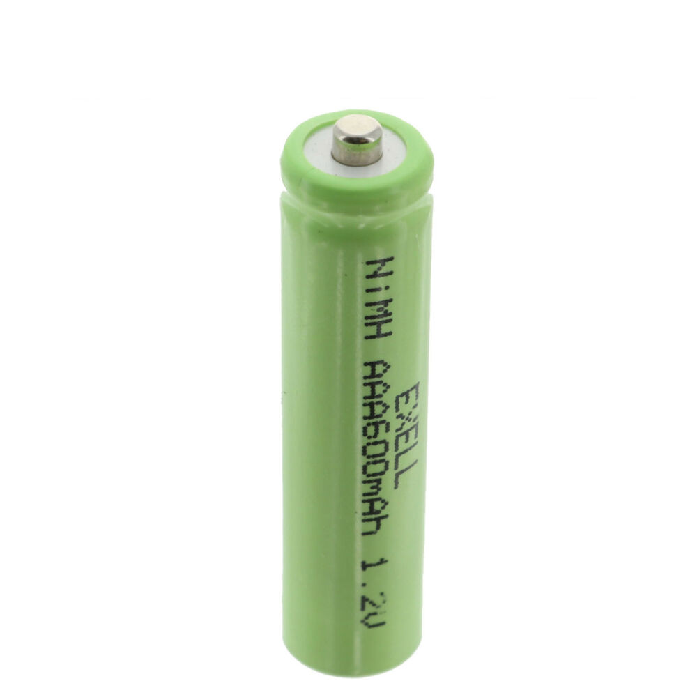 exell aaa size rechargeable battery 600mah nimh 1 2v button top cell usa ship ebay. Black Bedroom Furniture Sets. Home Design Ideas