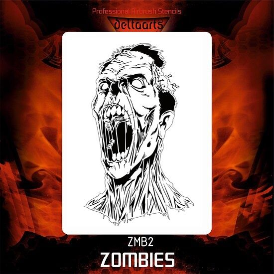 Airbrush stencil template ZOMBIE ZOMBIES DeltaArts NEW 2 ...