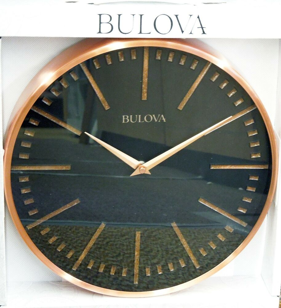 Bulova Copper Decorative Metal 12 5 Wall Clock C4811 Ebay