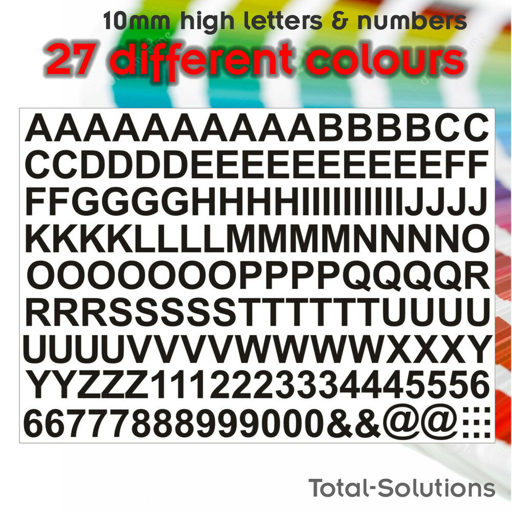 10mm self adhesive vinyl letters lettering and numbers just peel stick