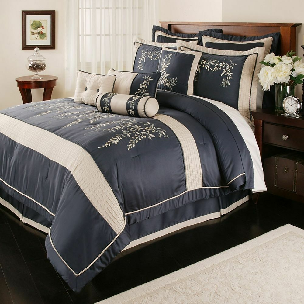 Home Classics Wisteria Collection Embroidered Pillow Shams
