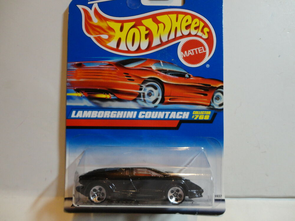 hot wheels 768 black lamborghini countach w 5 hole wheels ebay. Black Bedroom Furniture Sets. Home Design Ideas