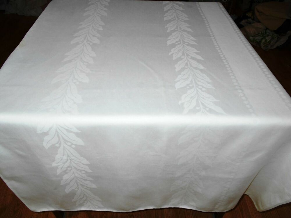 tablecloth vintage white
