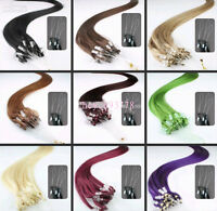 "20""-26"" Micro Loop Ring Tips Remy Human Hair EXTENSION multiple Colors,50g-100g"
