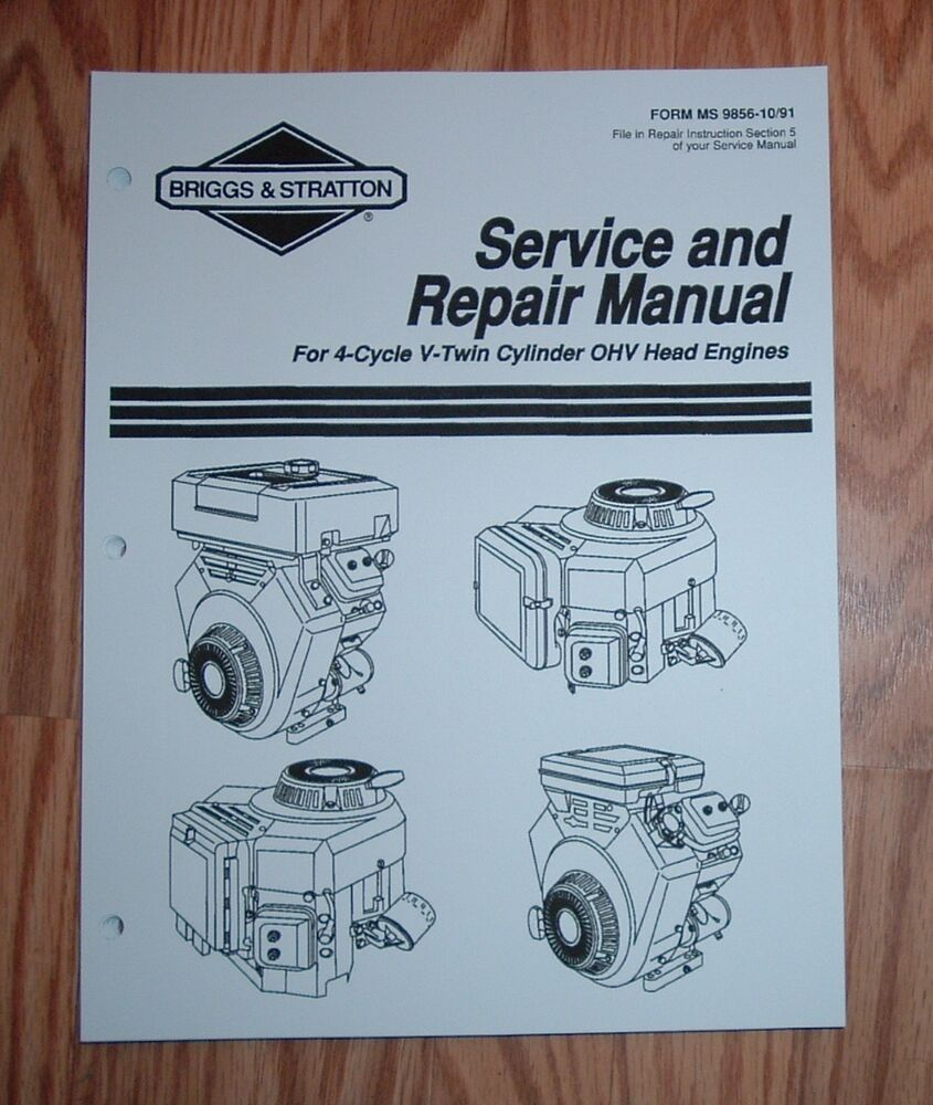 Briggs and Stratton V Twin Cylinder OHV Head Engines Service Manual .