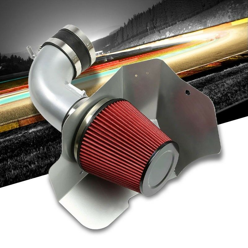 Cold Air Intake Kit Silver Pipe+Filter+Heat Shield For