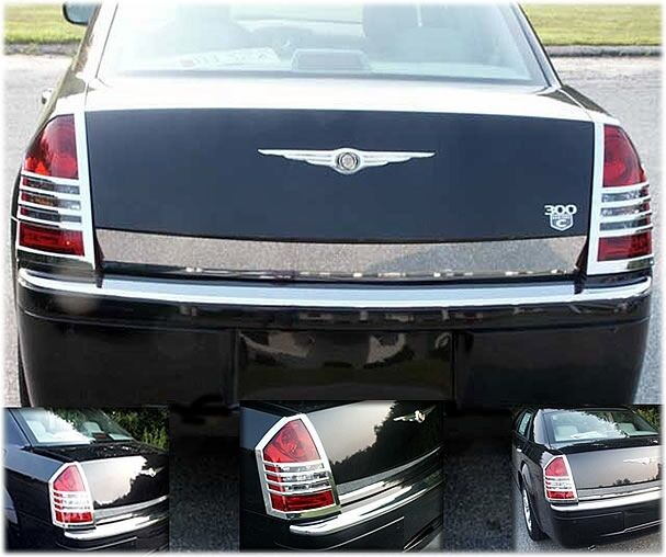 05 07 chrysler 300 chrome taillight covers trims bezels. Black Bedroom Furniture Sets. Home Design Ideas