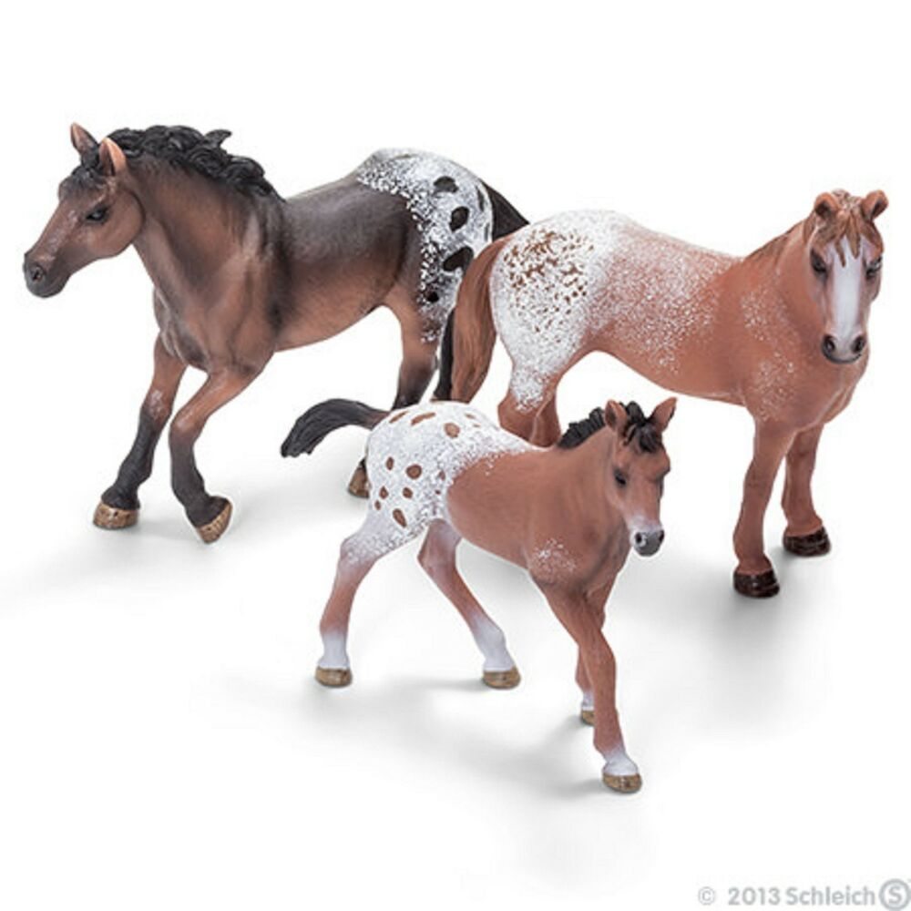 Toy Of Horses : Appaloosa horse family by schleich new horses toy