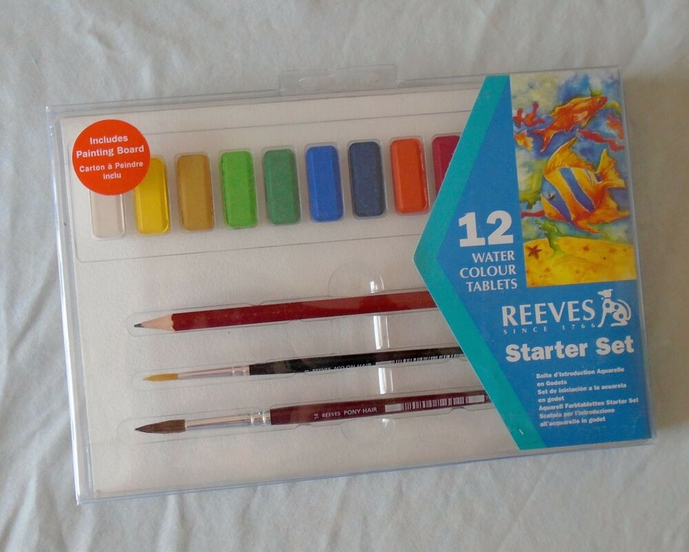reeves watercolor tablet painting starter set 17 pieces ebay