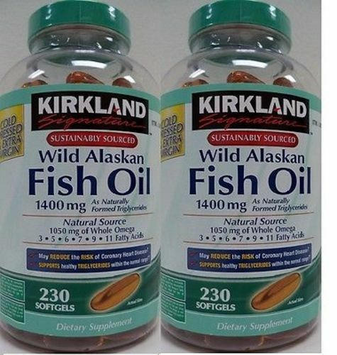 2pk kirkland signature wild alaskan fish oil 1400 mg 230