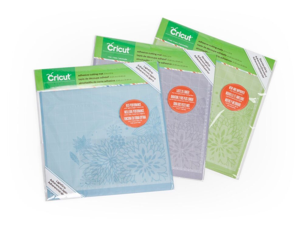 Cricut 12x12 Cutting Mat Variety Pack Light Standard And