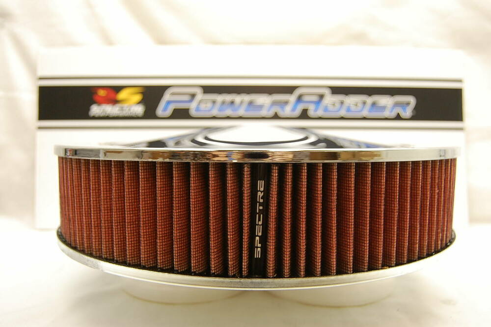 Low Profile Air Cleaner Base : Spectre chrome air cleaner red k n style filter
