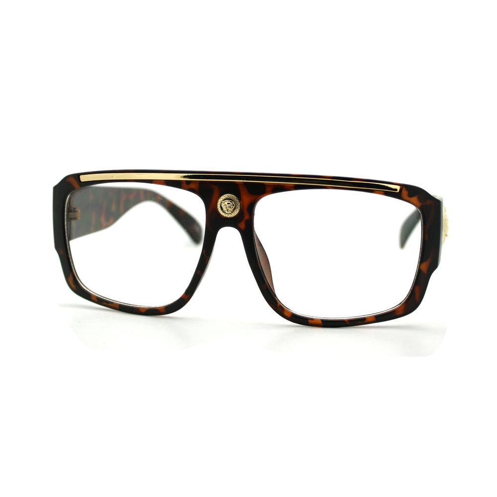 Clear Lens Eyeglasses Square Flat Top Designer Fashion ...