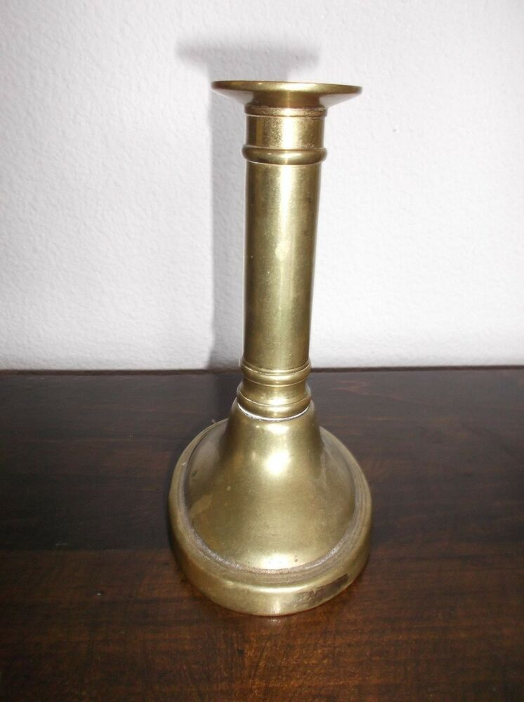 Antique Arts Amp Crafts Brass Candlestick England Oval Base 5 75 Quot H 4 Quot W Ebay