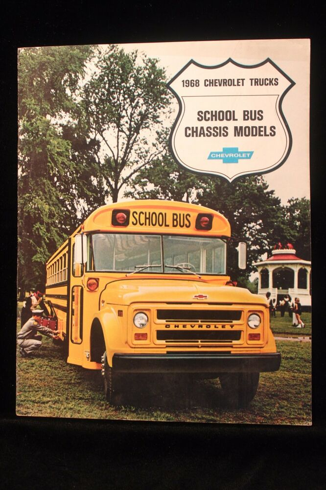 Vintage 1968 Chevy School Bus Chassis w/Sports Van ...