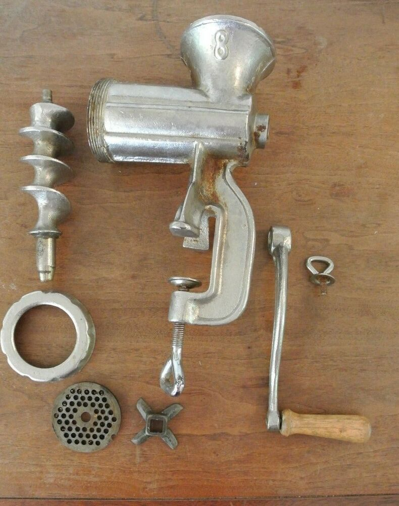 8 Metal Food Amp Meat Grinder Chopper Vintage Antique
