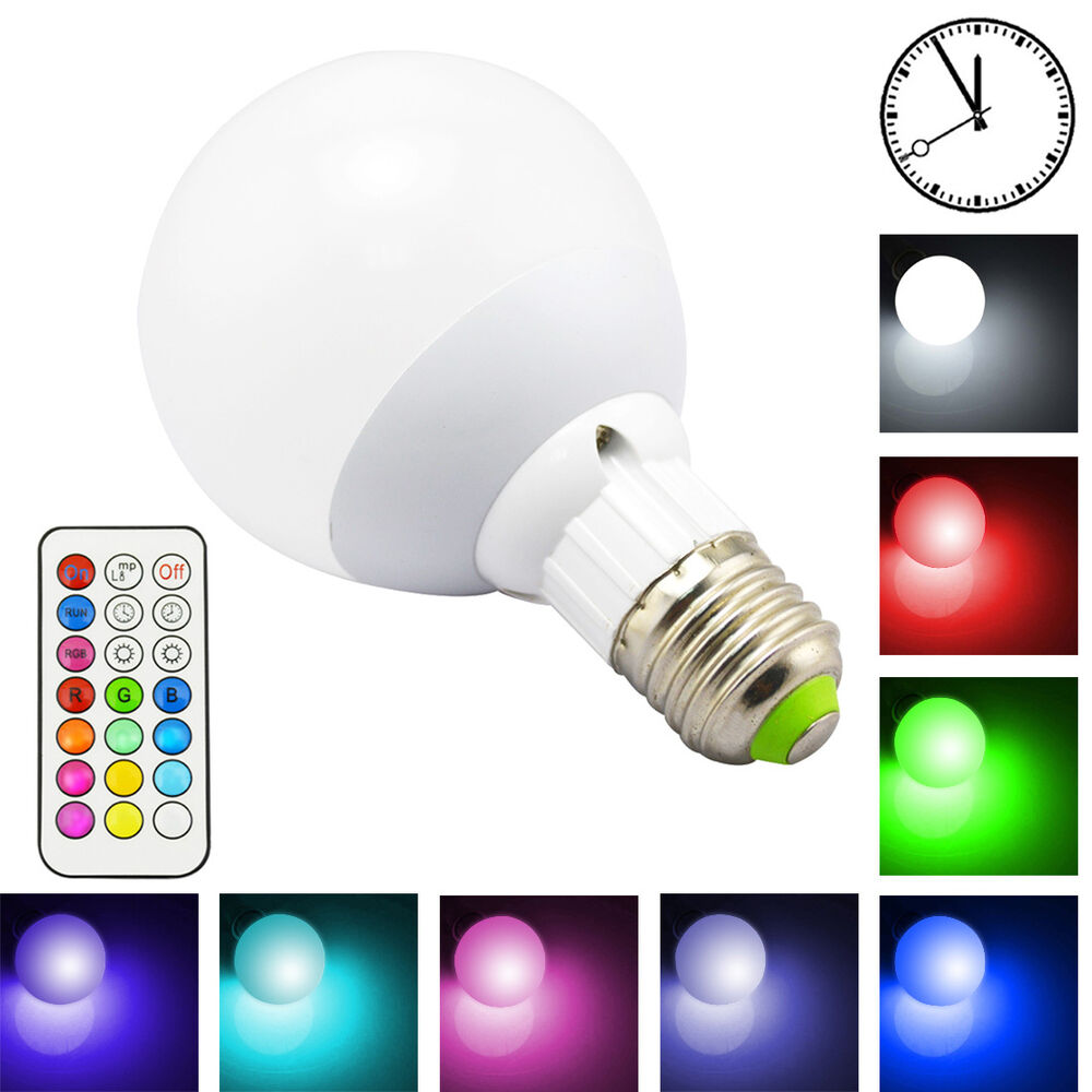 10w rgbw color changing led smart light bulb kit rgb white lamp timing remote ebay. Black Bedroom Furniture Sets. Home Design Ideas