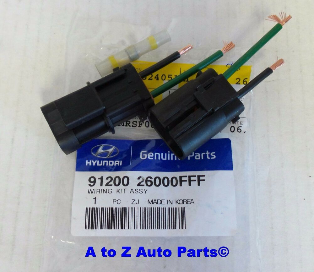 2004 2006 Hyundai Santa Fe Radiator Cooling Fan Wiring Connector Harness Overheat Fixoe Ebay