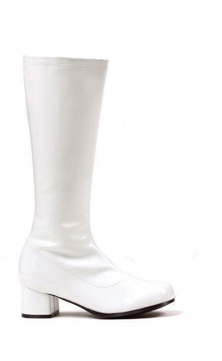 Model White Patent Gogo Boots Womens Retro Knee High Platform Boots  Size 8