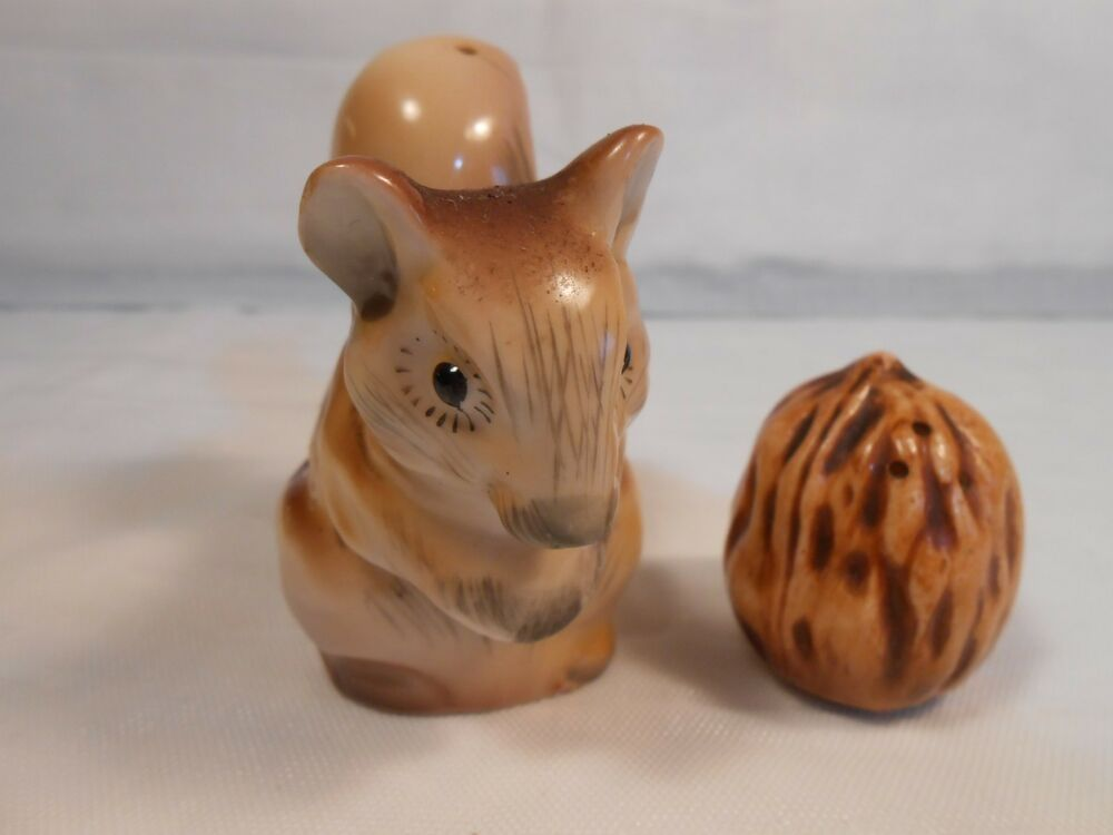 Squirrel And Walnut Salt Pepper Shakers Cute As Can Be