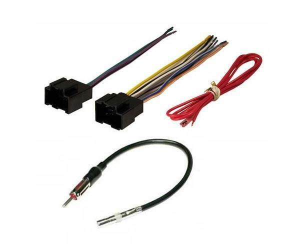 Aftermarket radio stereo installation wire harness plug