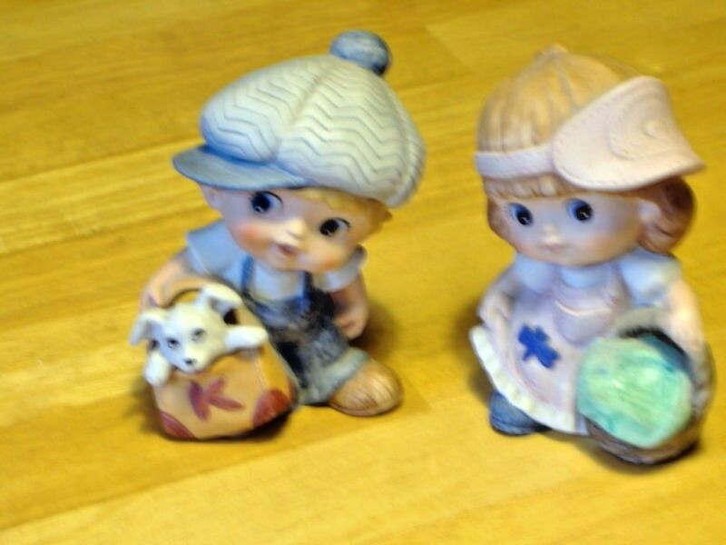 Homco home interiors boy girl 1439 ebay Home interiors figurines homco