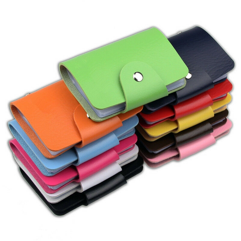 women PU Leather Pocket Business ID Credit Card Holder