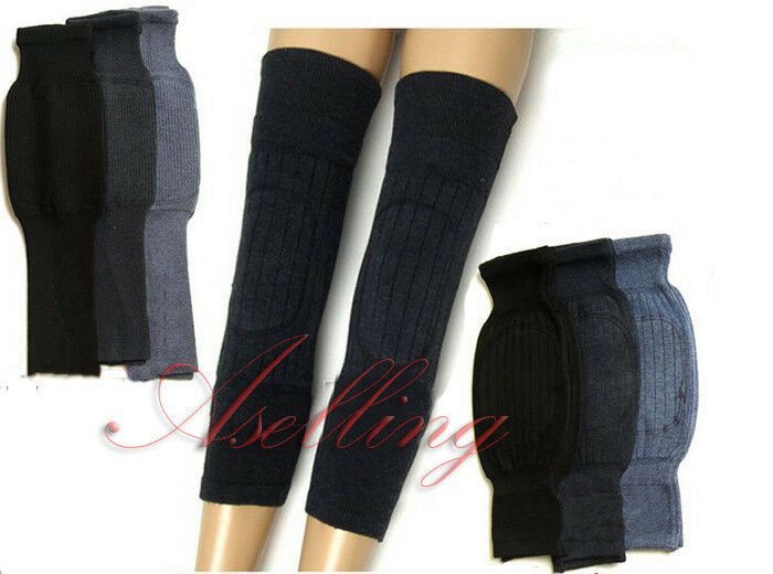 Unisex Thick Wool Knee Warmer Leg Kneelet Care Warm Cold ...