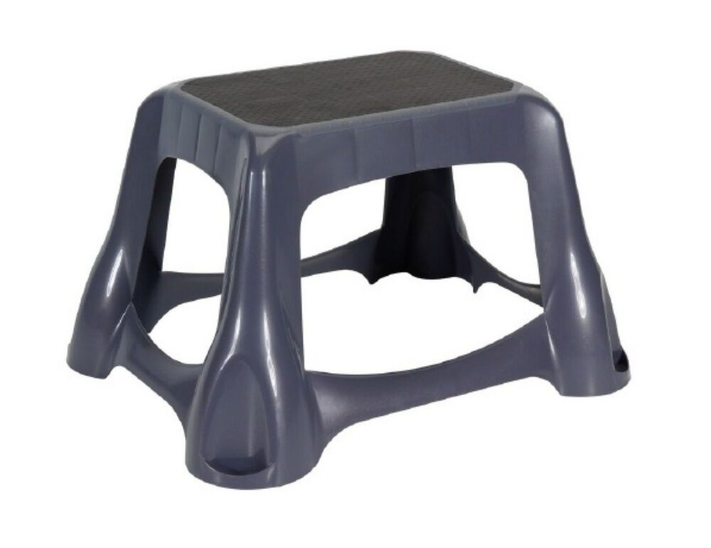 Rubbermaid 4b38 00 Large Step Stool Non Skid Dark Gray New