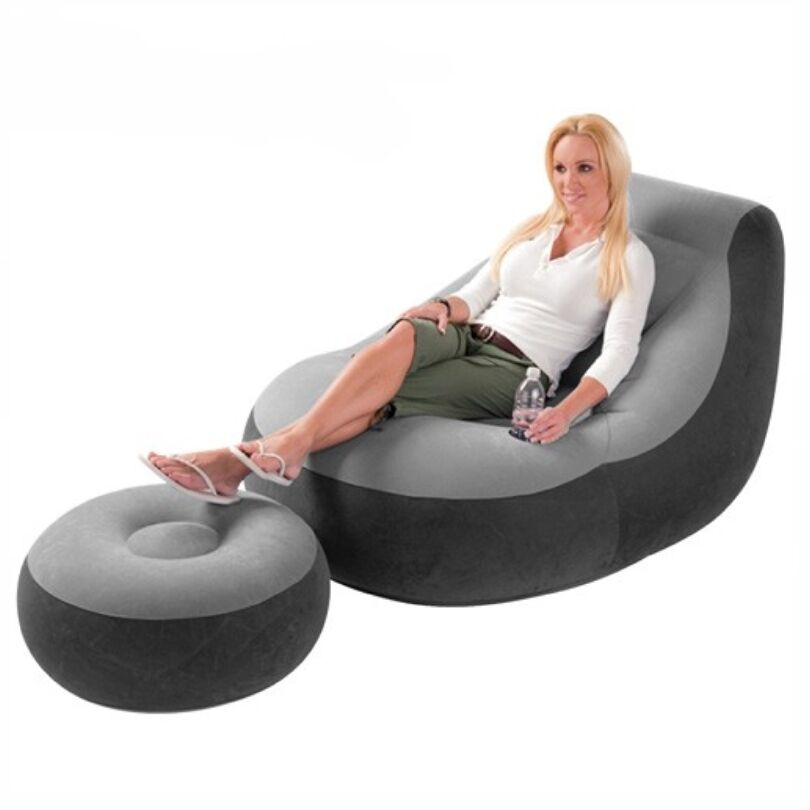 Inflatable Large Best Gaming Chair Adult Bean Bag Indoor Outdoor Gamer Intex Ebay