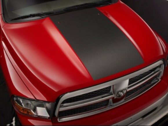ram dodge hood 1500 decal stripe carbon graphics oem fiber mopar rally factory stripes truck piece scoop decals 2002 production