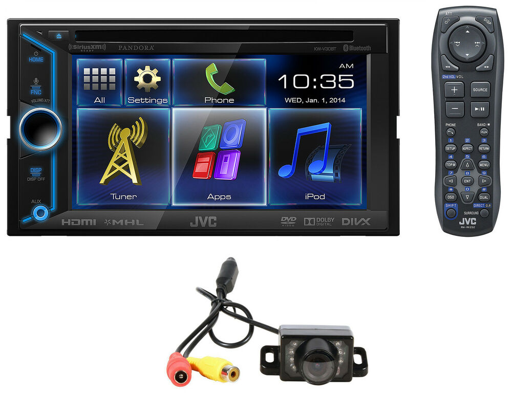 jvc kw v30bt 2 din bluetooth car dvd w 6 lcd hdmi 4 smartphone backup camera ebay. Black Bedroom Furniture Sets. Home Design Ideas