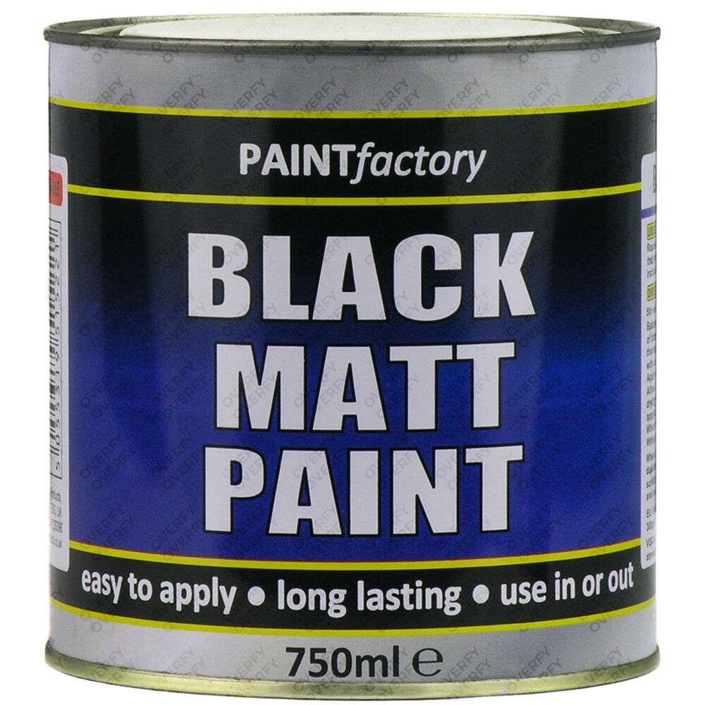 750ml long lasting black matt paint can easy to apply indoor outdoor adhesion ebay - Exterior wood paint matt pict ...