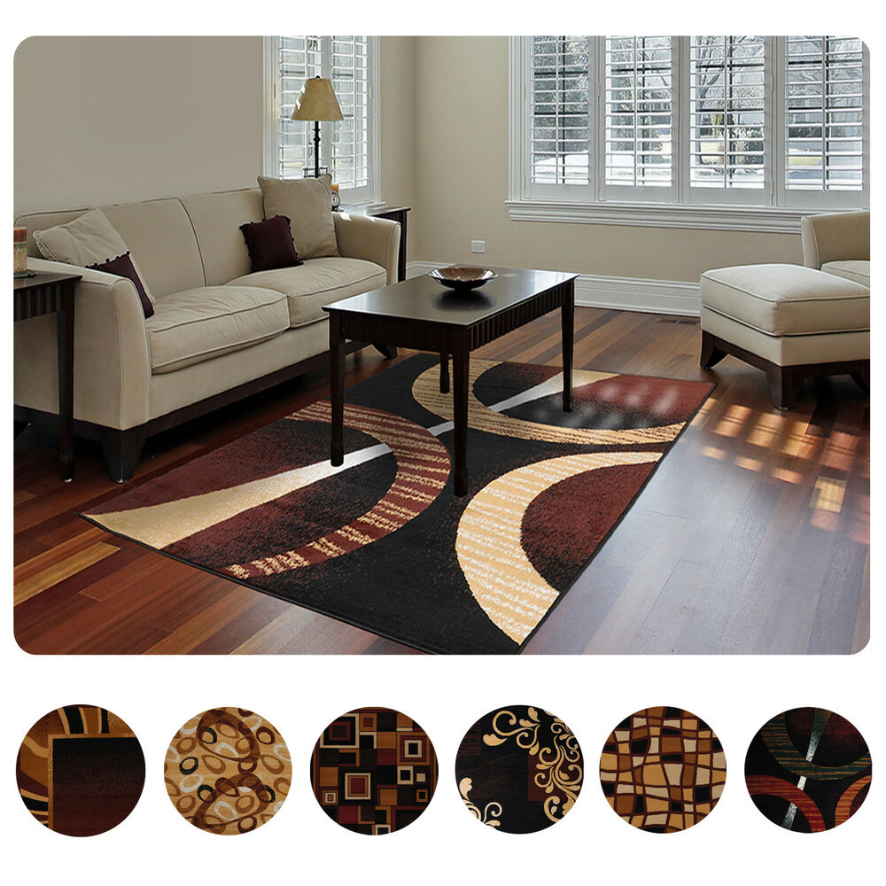 Modern contemporary geometric area rug runner accent mat for Modern contemporary area rugs