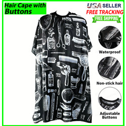 Kyпить Hair Cutting Cape Large Salon Hairdressing Hairdresser Gown Barber Cloth Black на еВаy.соm