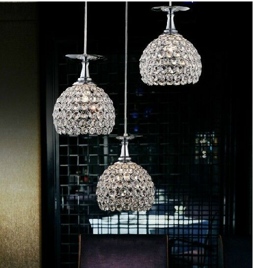 New Crystal Led Lighting Wineglass Ceiling Light Pendant