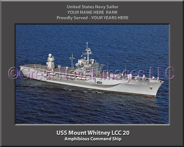 Uss mount whitney lcc 20 personalized canvas ship photo Lcc canvas