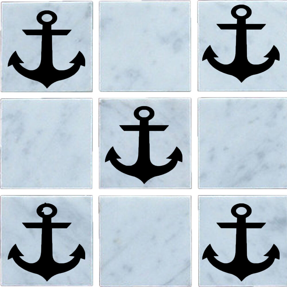 Anchor vinyl wall tile stickers decal transfers for for Bathroom tile stickers