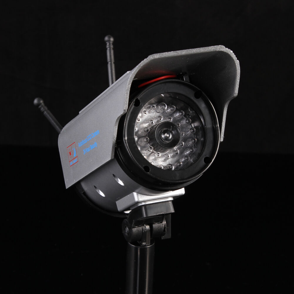 Solar Home Security Dummy Camera Detective Flashing Red
