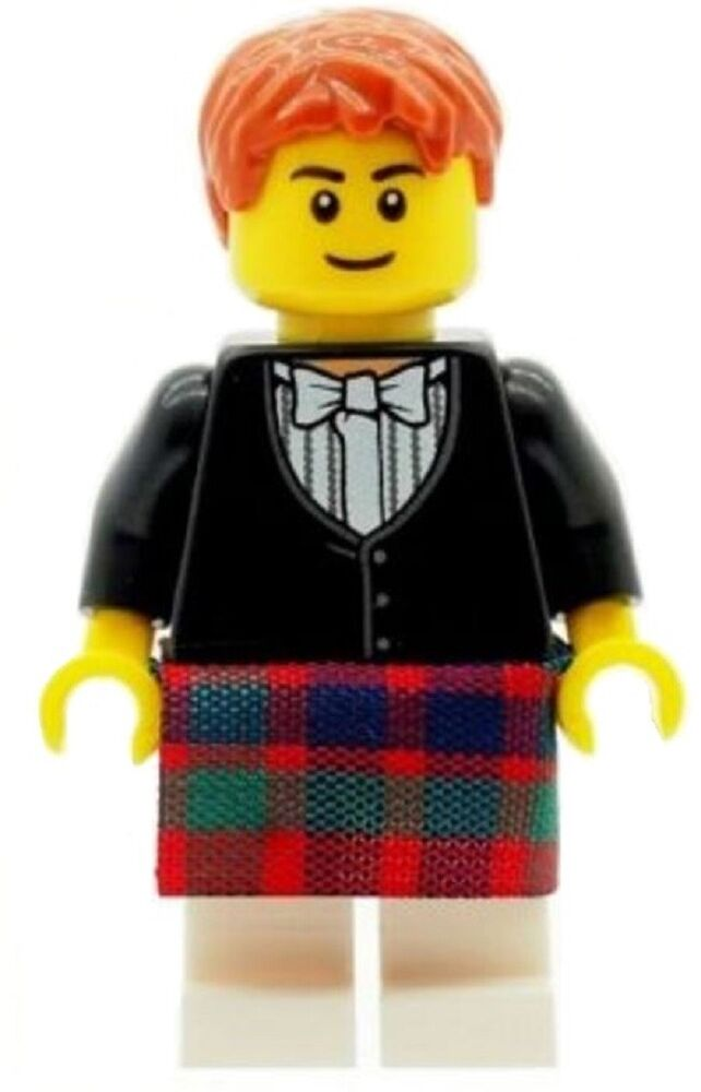 wedding cake toppers kilt lego wedding scottish groom minifig in kilt amp bowtie 8831